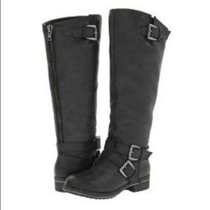 Madden Girl Legacie Black Riding Boot Size 6